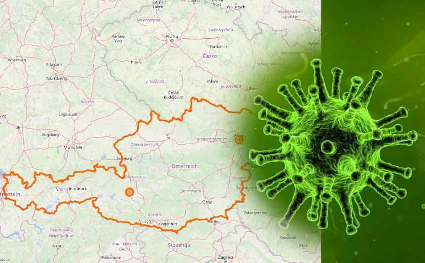 Coronavirus-Austria-Landkarte